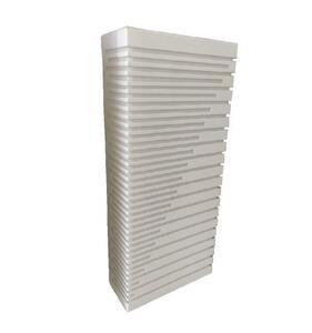 Arandela Box Diagonal Acrílico Retangular Grande Branco (545) 40cm x 17,5cm x 7,5cm 2xE27 - Metal Domado