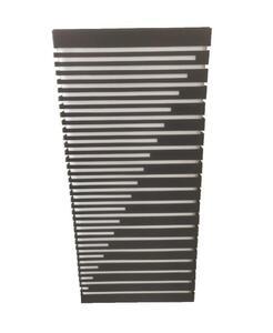 Arandela Box Diagonal G Acrílico Retangular Grande Preto (545) 40cm x 17,5cm x 7cm 2xE27 - Metal Domado