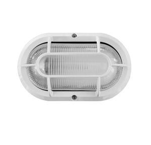 Luminária Arandela Externa Tartaruga Branca 20,2cm x 12,2cm x 10cm 1xE27 - Plaslumi