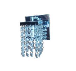 Arandela Pequena Quadrada Cristal Transparente (4065/1) 12cm x 12cm x 50cm 1xG9 Bivolt 20W - Artelustre