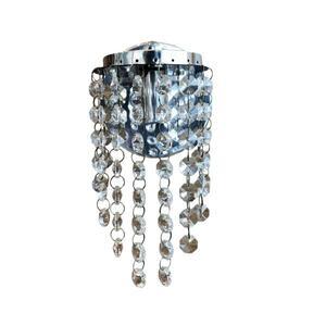 Luminária Arandela ARR01 Redonda Cristal Transparente Ø9,5cm x 26cm 1xG9 - Lumix