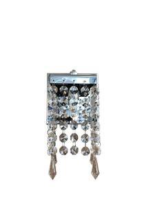 Luminária Arandela LN51 Quadrada Cristal Transparente 18cm x 8cm x 8cm 1xG9 - Lumix