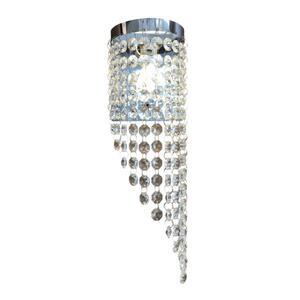 Luminária Arandela Meia Lua Cristal Transparente (2303) Diagonal - Megalux