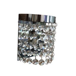 Luminária Arandela Meia Lua Cristal Transparente (2302) - Megalux