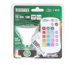 Lâmpada LED TDL RGB Bivolt 5W - Taschibra