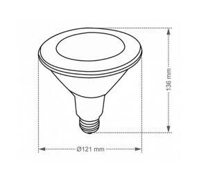 Lâmpada LED PAR38 E27 3000K Bivolt 9,9W - Taschibra