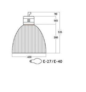 Pendente Prismática 16 com Alojamento para Reator - TEC & LUZ