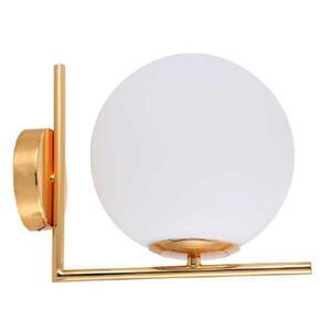 Arandela Globe Line Dourada com Globo Leitoso 1xE27 Bivolt 40W - MBLED