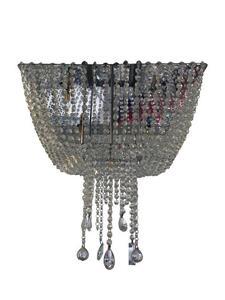 Plafon Sobrepor Quadrado Cristal Transparente 45cm x 45cm x 52cm 6xG9 Bivolt (PLF-4683/6) - Old Artisan