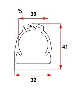 """Abraçadeira Click Preta 3/4"""" PVC - Inpol"""