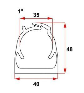 """Abraçadeira Click Vermelha 1"""" PVC - Inpol"""