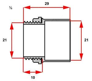 Conector Box Reto para Condulete 1/2 Branco  - Inpol