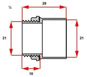 Conector Box Reto para Condulete 1/2 Cinza  - Inpol