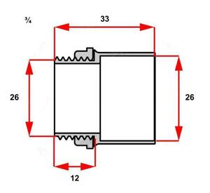 Conector Box Reto para Condulete 3/4 Cinza  - Inpol